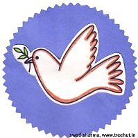 Indian tri color dove badge for republic day