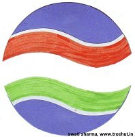 Indian tri color flag badge for independence day