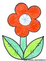Indian tri color flower badge for independence day