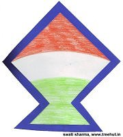 Indian tri color kite badge for independence day