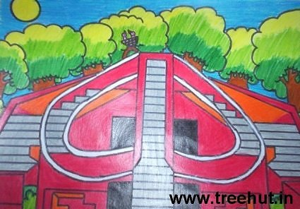Indian Monuments Art By Kids