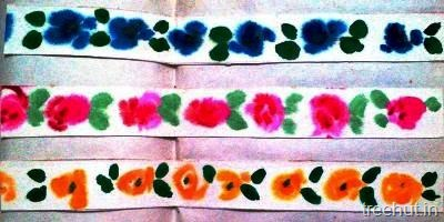 diy flower bulletin board border roses handpainted
