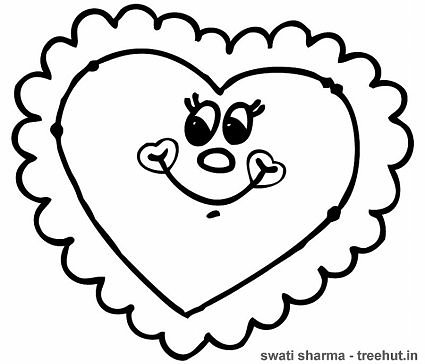 heart cushion coloring page