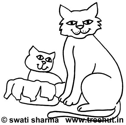 free cats coloring page