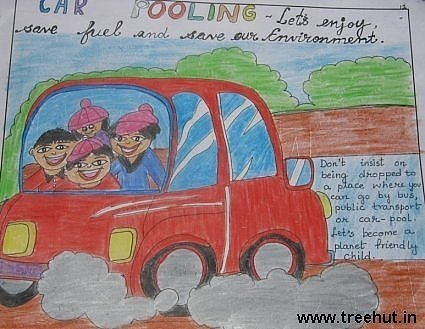 Car kids artwork by Mayank Tekwani son of Vidhi Tekwani Lucknow India