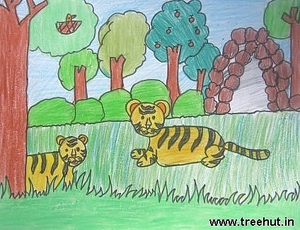 kids artwork Aditi Agarwal Lucknow India Study Hall school