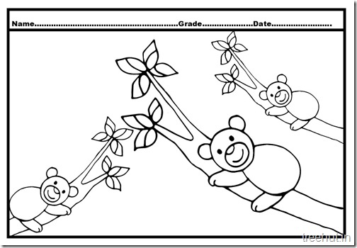 Bear Colouring Pages (1)