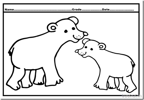 Bear Colouring Pages (2)