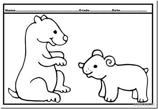 Bear Colouring Pages (3)