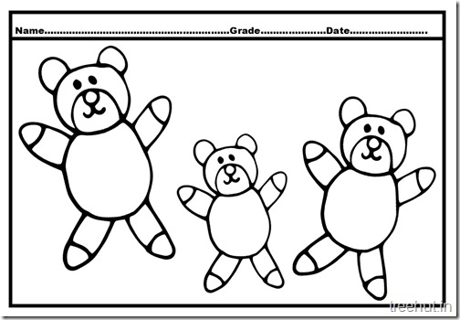 Bear Colouring Pages (4)
