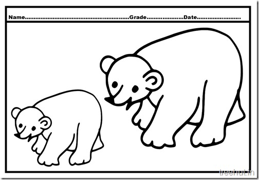 Bear Colouring Pages (5)