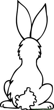 bunny rabbit back coloring page