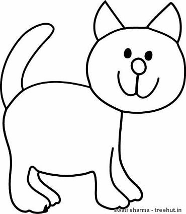 Standing cat coloring sheet