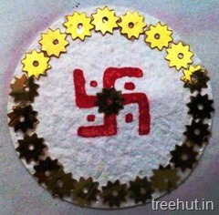 block printing rakhi craft idea swastika