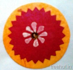 make at home block printing rakhi ideas 9