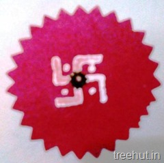 swastika wooden block printing rakhi ideas India