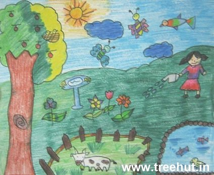 Child art by Aditi Rastogi Study Hall Lucknow India
