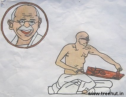 Gandhi ji by Akash Tandon Study Hall school Lucknow India
