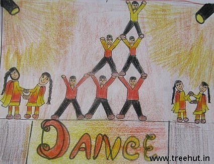 dance in child art by Kashish Bhatia lucknow india