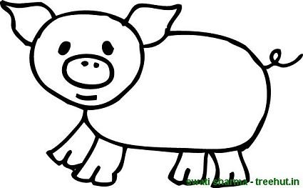 scared piglet - Coloring Pages Of Pigs