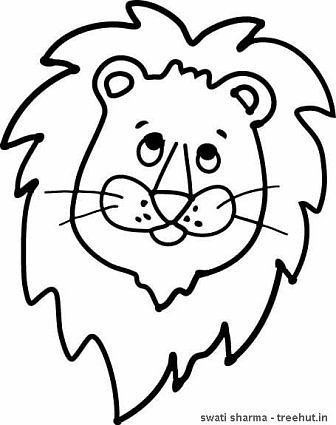 lion face coloring page apigram