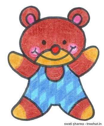 teddy bear crayon kids art by swati sharma lucknow