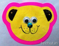 bear paper rakhi craft for pre schoolers (1)
