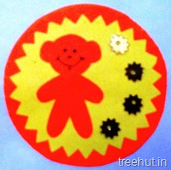 bear paper rakhi craft for pre schoolers (3)