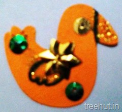 easy duck rakhi craft for kindergarten kids
