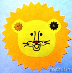 lion rakhi craft activity (1)