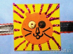 lion rakhi craft activity (2)