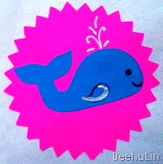 whale rakhi craft for children