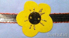 flower rakhi craft ideas 1