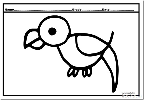 Parrot Coloring Pages (5)