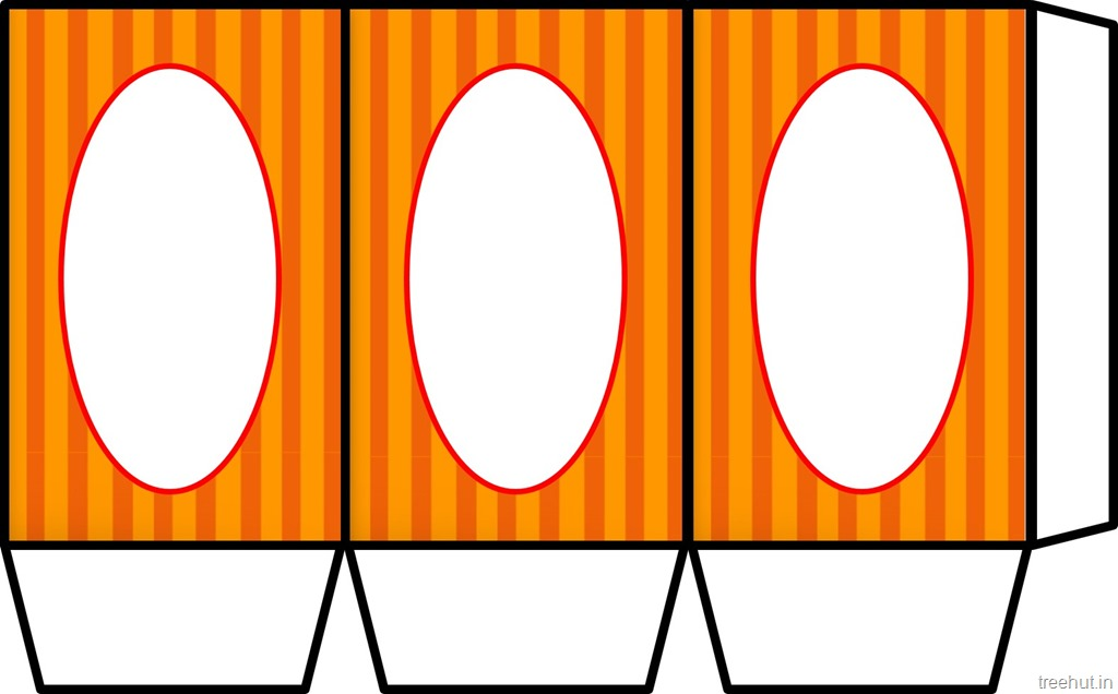 Colored printable halloween paper lantern template for Lantern template
