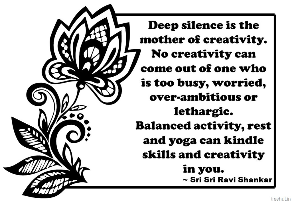 Creativity Quotes Coloring Pages Sri Ravi Shankar 1