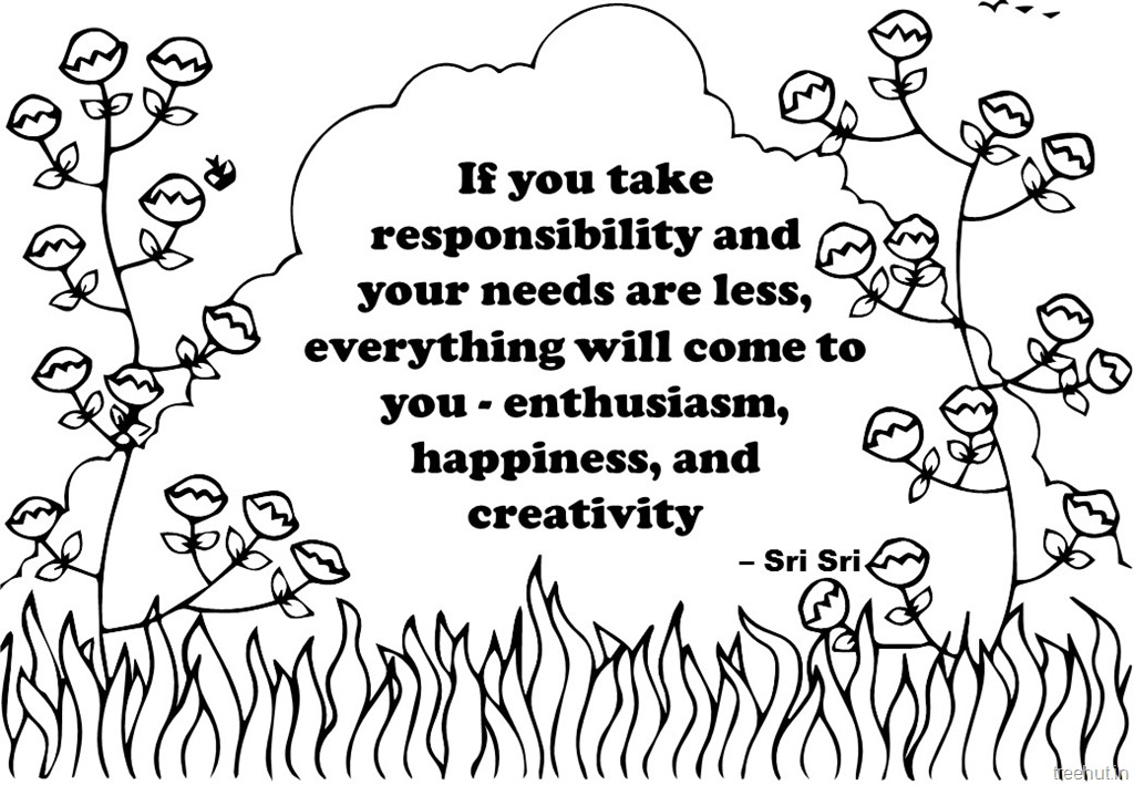 Creativity Quotes Coloring Pages by Sri Sri Ravi Shankar