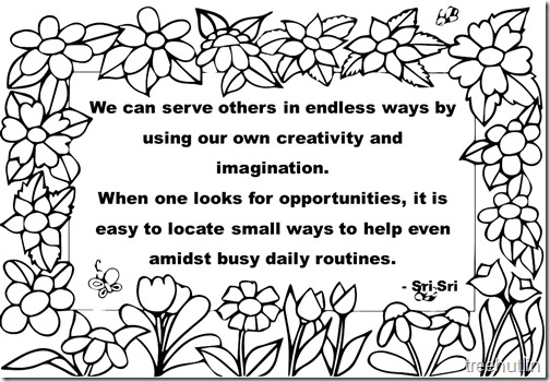 Creativity Quotes Coloring Pages Sri Sri Ravi Shankar  (5)