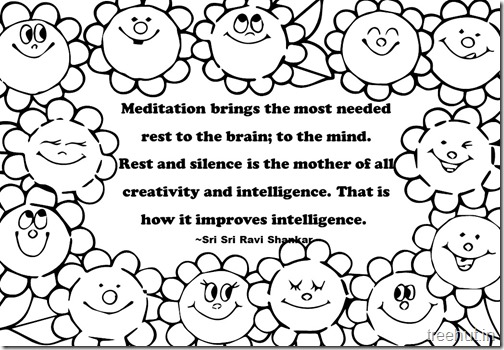 Creativity Quotes Coloring Pages Sri Sri Ravi Shankar  (6)