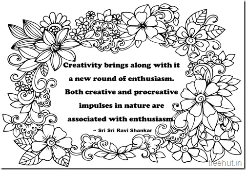 Creativity Quotes Coloring Pages Sri Sri Ravi Shankar  (7)