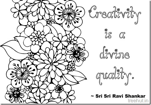Creativity Quotes Coloring Pages Sri Sri Ravi Shankar  (9)