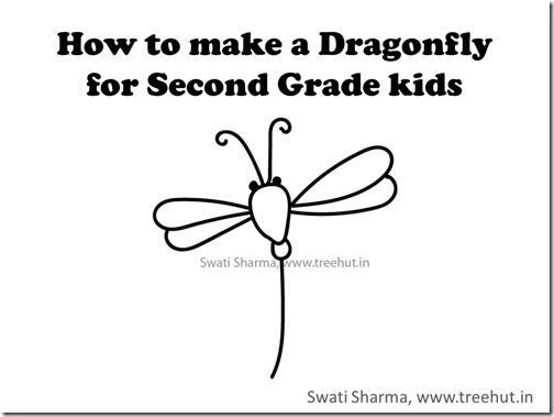 Video tutorial learn to draw a dragonfly kids art