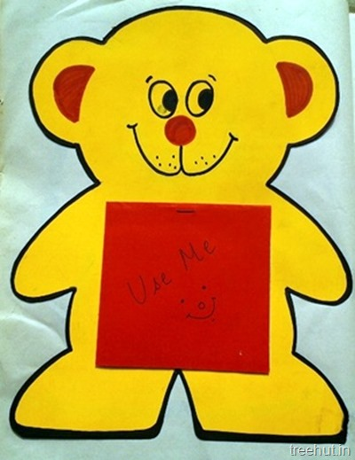 bear notepad craft idea for kids