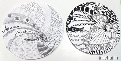 circle zentangle art India