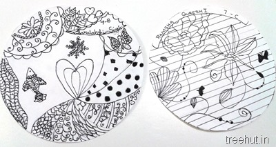 circle zentangle art for beginners
