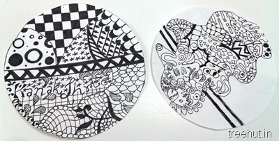 circle zentangle art ideas