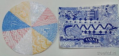 circle zentangle art project