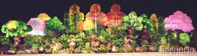 school stage landscape forest scenic backdrop decoration