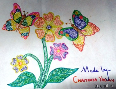 colorful-dot-art Chaitany Yadav La Martiniere Girls College Lucknow