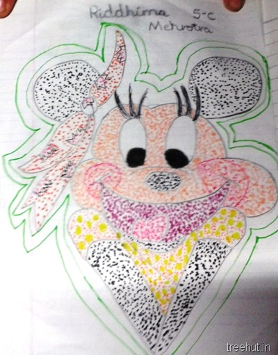 colorful-dot-art cartoon for kids activity